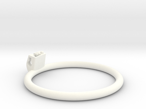 Cherry Keeper Ring G2 - 90mm Flat in White Processed Versatile Plastic