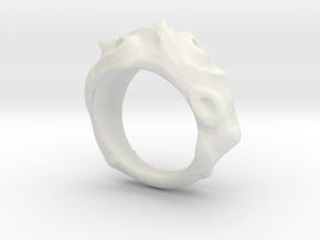 Conch Ring in White Natural Versatile Plastic