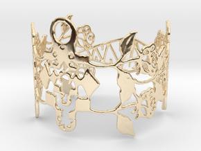 Roses Bracelet in 14k Gold Plated Brass