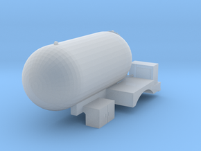 HO scale Propane Truck single axle V1 in Smooth Fine Detail Plastic