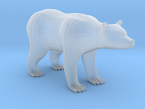 Plastic Brown Bear v2 1:160-N in Smooth Fine Detail Plastic