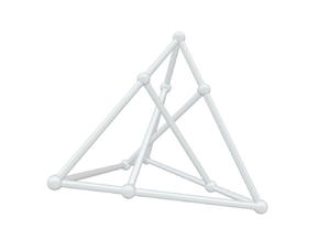 Petersen - Shifted Tetrahedron in White Natural Versatile Plastic