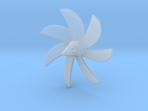 1/144 Permit/Thresher 593 class 7-blade propeller in Smooth Fine Detail Plastic