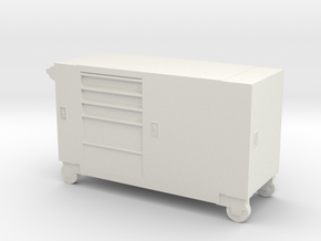 Toolbox Trolley 1/48 in White Natural Versatile Plastic