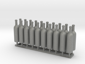 Wine Bottles Ver01. 1:12 Scale x20 units (30mm) in Gray PA12