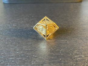 10-Sided Vector Die (10s%) in Natural Brass