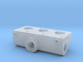 Compressed air 3 Port manifold in Smooth Fine Detail Plastic