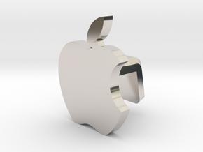 iMac M1 Camera Cover - Apple Logo in Rhodium Plated Brass