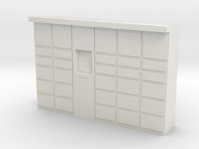 Parcel Locker 1/64 in White Natural Versatile Plastic