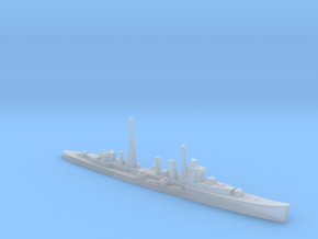 HMS Colombo AA cruiser (masts) 1:1250 WW2 in Smooth Fine Detail Plastic