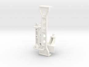 077001-02 Mud Blaster Body Mounts and Brace in White Processed Versatile Plastic