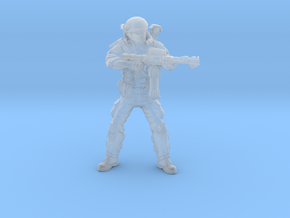 Male Colonial Marine Flamethrower 34mm in Smooth Fine Detail Plastic