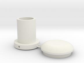 Battle Brick Saber Blade kit V1-T2 (Thickness 2mm) in White Natural Versatile Plastic