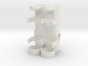 Picatinny Mounted 2x AA Battery Holder in White Natural Versatile Plastic