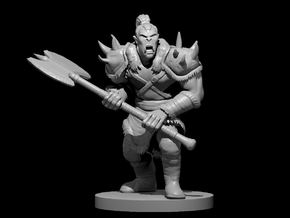 Orc Male Warrior in Smooth Fine Detail Plastic