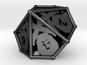 D10 Balanced - Skull and Bones (Renumbered) in Polished and Bronzed Black Steel