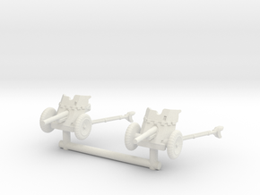 3.7  cm Pak 36 (deployed) (x2) 1/100 in White Natural Versatile Plastic