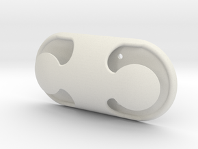 Cleat hook Dual horn  in White Natural Versatile Plastic