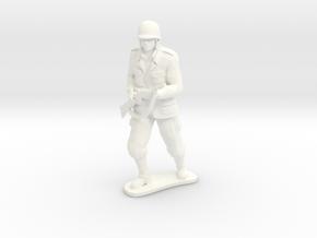 Army Soldier - Caje - COMBAT in White Processed Versatile Plastic