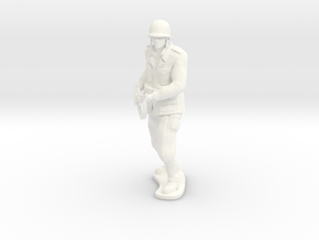 Army Soldier - Kirby - COMBAT in White Processed Versatile Plastic