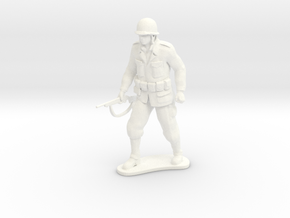 Army Soldier - Little John - COMBAT in White Processed Versatile Plastic
