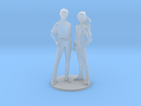 1/60 Male Students X2 Standing in Smoothest Fine Detail Plastic