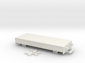 HO/OO Breakdown train studded flatbed Bachmann in White Natural Versatile Plastic