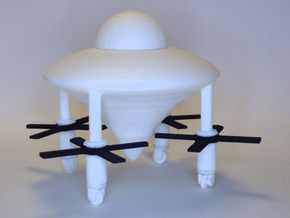 Model of Ancient Astronaut Spaceship of Ezekiel in White Processed Versatile Plastic