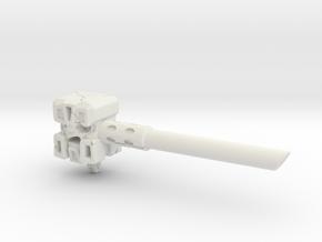 Ignoble Foe - 5mm Makeshift Battle Hammer  in White Natural Versatile Plastic