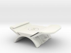 Horizontal handlebar mount for GoPro The Remote  in White Natural Versatile Plastic