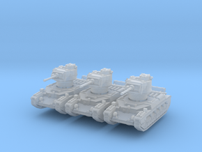 Matilda II (early) (x3) 1/285 in Smooth Fine Detail Plastic