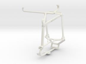 Controller mount for Steam & T-Mobile REVVL V+ 5G  in White Natural Versatile Plastic