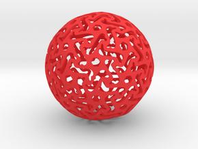 Bone Sphere in Red Processed Versatile Plastic