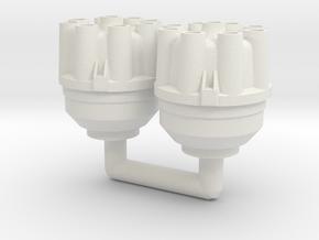 1/8 Pre-Drilled Distributors (pair) in White Natural Versatile Plastic