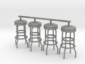 Soda Fountain Bar Stool 02. 1:18 Scale (x2 Units) in Gray PA12