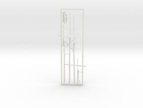 1/350 CSS Shenandoah Masts & Funnel in White Natural Versatile Plastic
