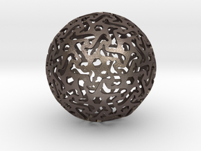 Bone Sphere in Polished Bronzed Silver Steel