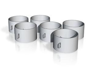MDF25/OT x6 in White Natural Versatile Plastic