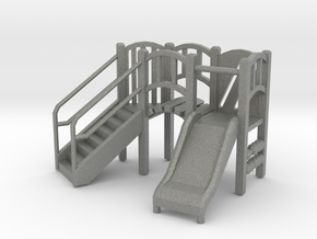 Playground Equipment 01. 1:64 Scale  in Gray PA12
