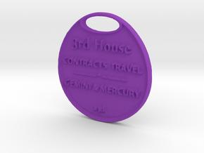HOUSE-THREE-astrologycoinA3D- in Purple Processed Versatile Plastic