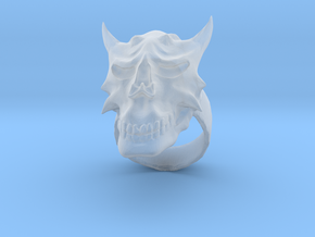 Demon Skull Ring in Smooth Fine Detail Plastic