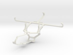 Controller mount for Steam & Oppo Reno6 Z - Front in White Natural Versatile Plastic