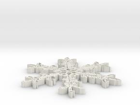 snowflake-v3-1.stl in White Natural Versatile Plastic