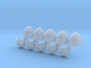Vipers Mk7/8 shoulder pads x10 R in Smooth Fine Detail Plastic