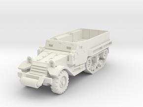 M5 Half-Track 1/87 in White Natural Versatile Plastic