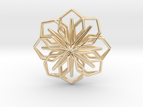 A-LINE Blossom, Pendant in 14K Yellow Gold