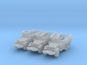 M5A1 Half-Track (x3) 1/200 in Smooth Fine Detail Plastic