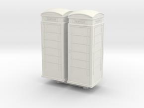 UK Phone Booth (x2) 1/120 in White Natural Versatile Plastic