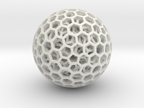 Goldberg polyhedrons in White Natural Versatile Plastic