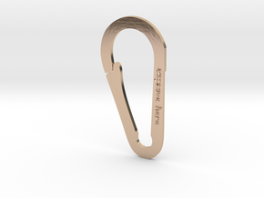 Rocky Mountain Keychain in 14k Rose Gold Plated Brass